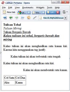 Latihan HTML 1